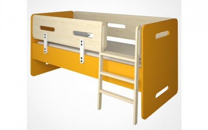 Детская кровать под матрас 70*160 см из массива сосны Точка-тире