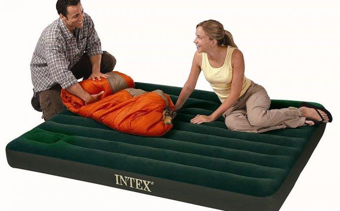 Двуспальный надувной матрас INTEX Downy Bed (Queen) с насосом