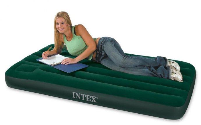 Купить надувной матрас для сна INTEX, спальные надувные матрасы в