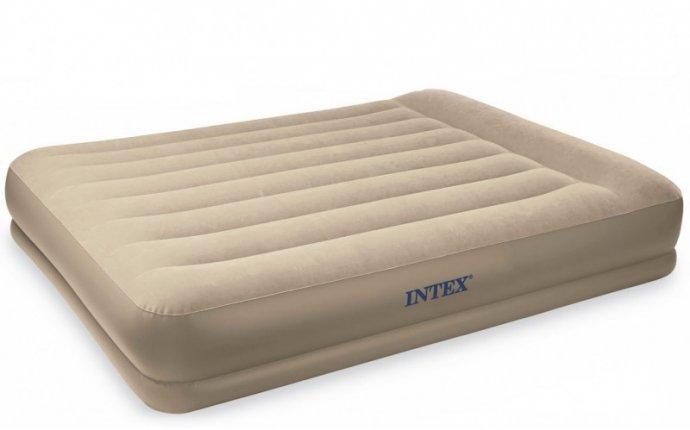 Надувная матрас-кровать полуторная со встроенным эл. насосом