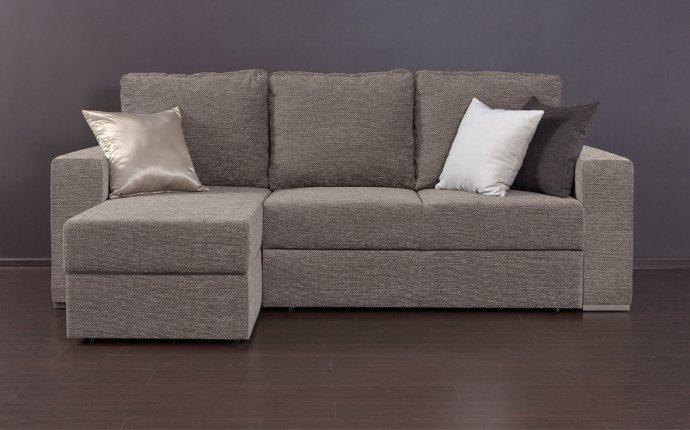 Удобный угловой диван с полкой и ортопедическим матрасом